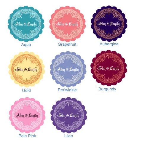Template thiết kế thẻ treo tròn bế hình hoa