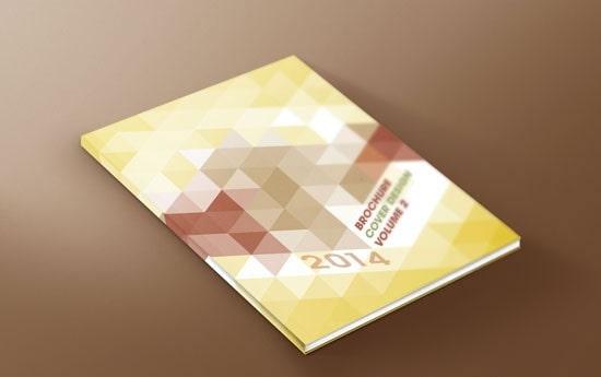 Dạng menu brochure sử dụng style hình học