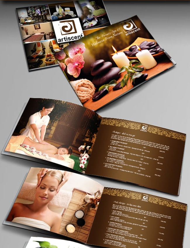 Mẫu thiết kế brochure Spa được đầu tư kỹ lưỡng
