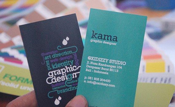 Nghệ thuật chơi chữ - typography trong card visit đầy ấn tượng
