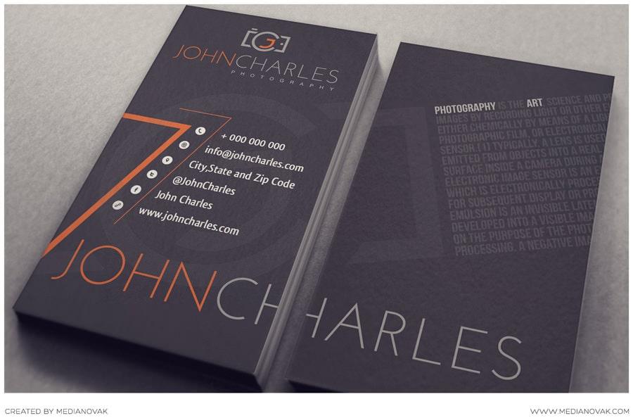 Nghệ thuật thiết kế card visit typography