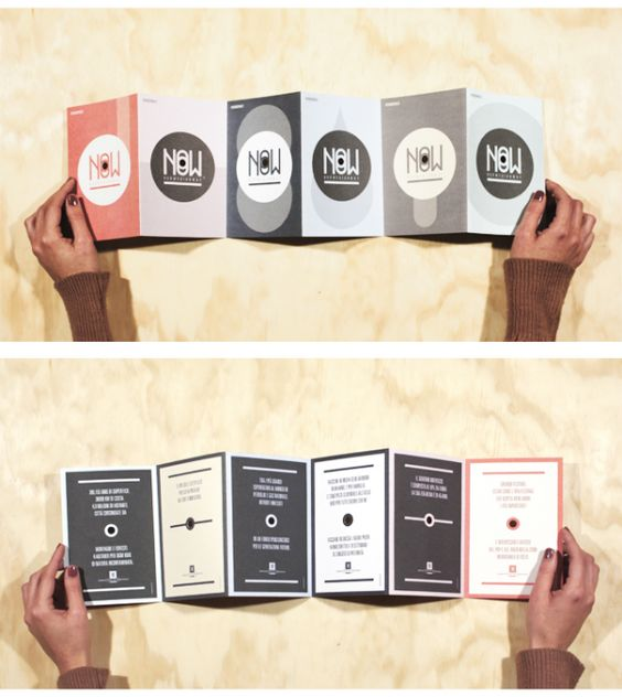 Mẫu thiết kế brochure gấp phản diện độc đáo