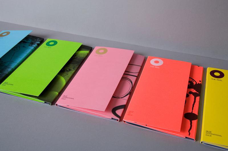 Mẫu in tờ gấp lệch với màu sắc thiết kế sang trọng