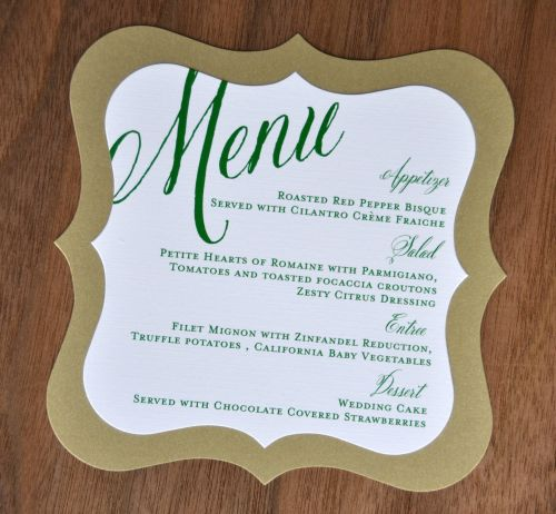 In menu ấn tượng với cách in menu mới