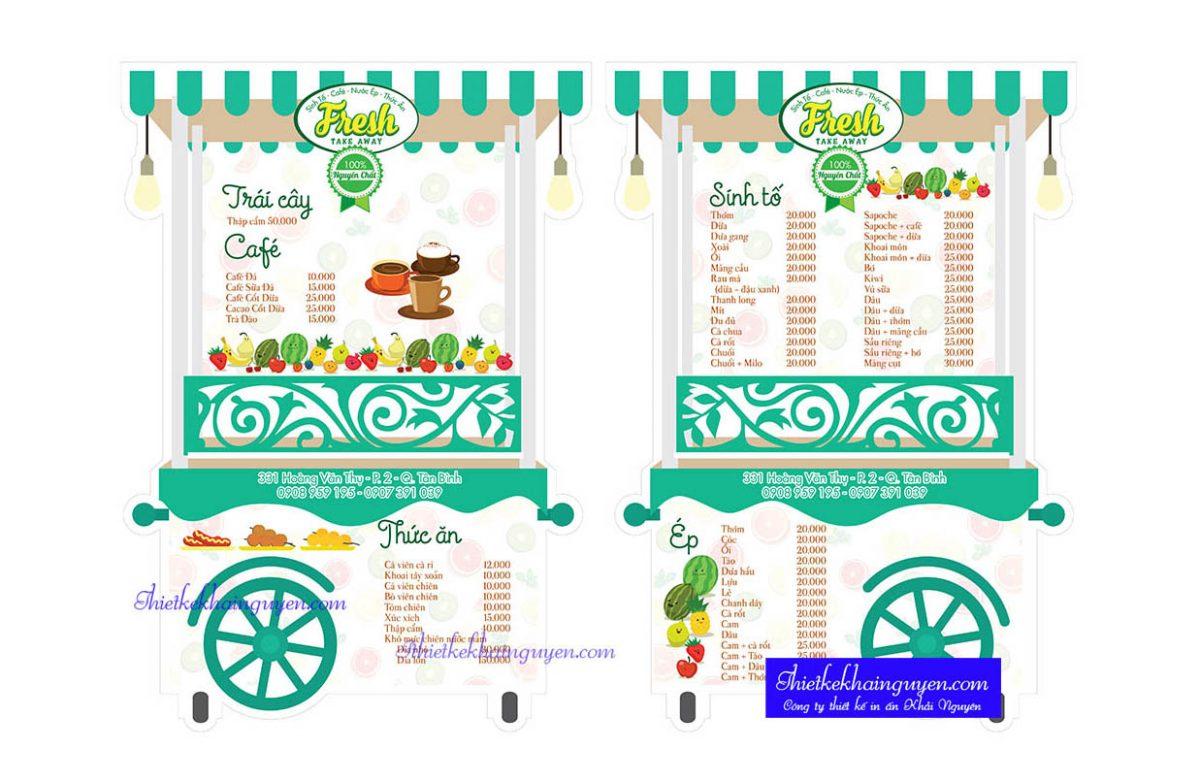 In menu giá rẻ - in menu đặc biệt