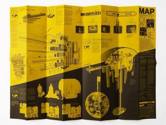 Mẫu thiết kế brochure gấp 10 mặt - tờ gấp khổ dài