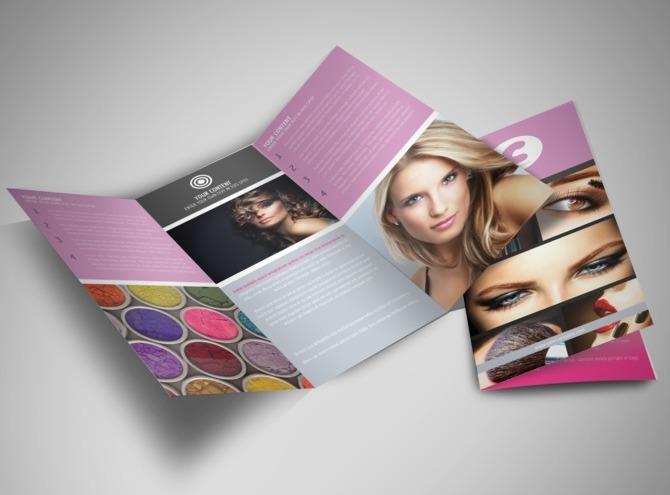 Thiết kế brochure hair salon đơn giản nhưng hiệu quả