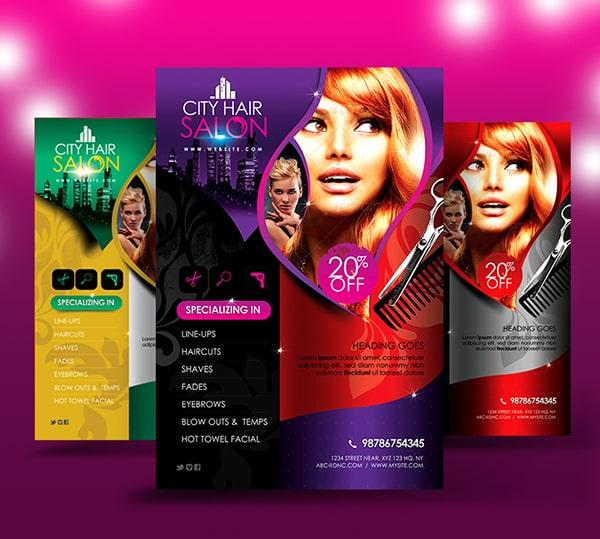 Thiết kế brochure salon đầy màu sắc