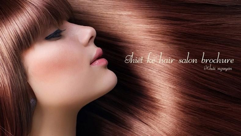 Thiết kế brochure hair salon cao cấp tại hcm