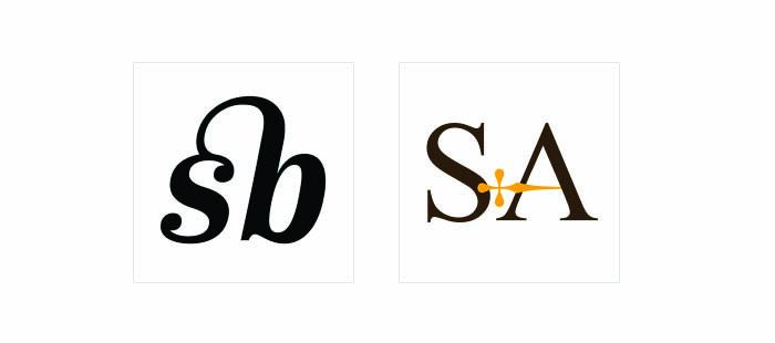 Thiết kế logo lettermar. Sử dụng cầu nối
