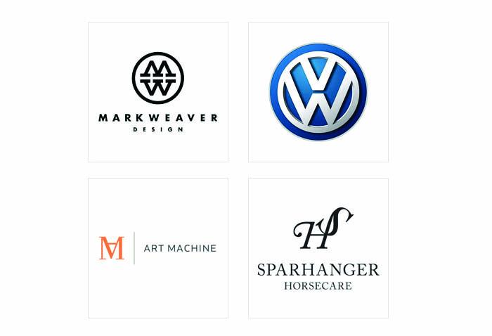 Thiết kế logo-lettermark. Sử dụng cách xoay chữ.