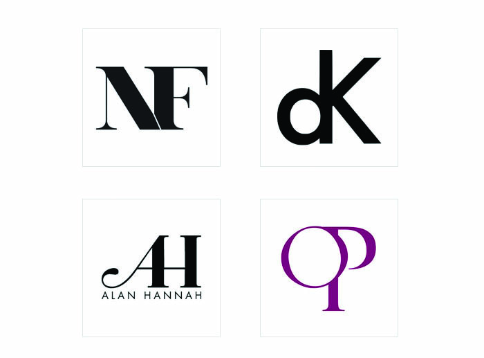 Thiết kế logo chữ - Thiết kế nét thẳng đứng