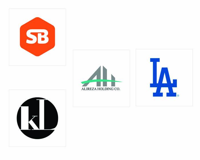 Thiết kế logo chữ - thiết kế bằng nét thẳng ngang