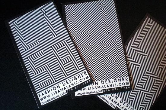 card visit ảo ảnh thị giác