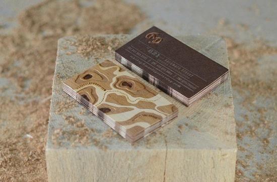 Làm name card gỗ