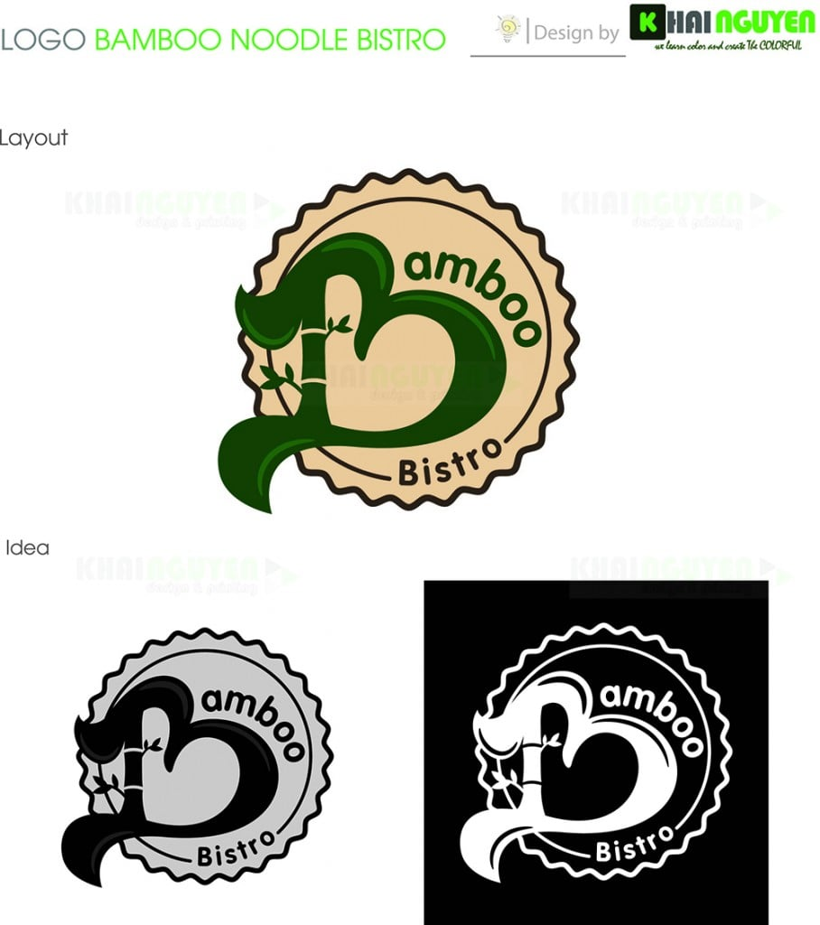 Mẫu thiết kế menu nhà hàng Bamboo Bistro