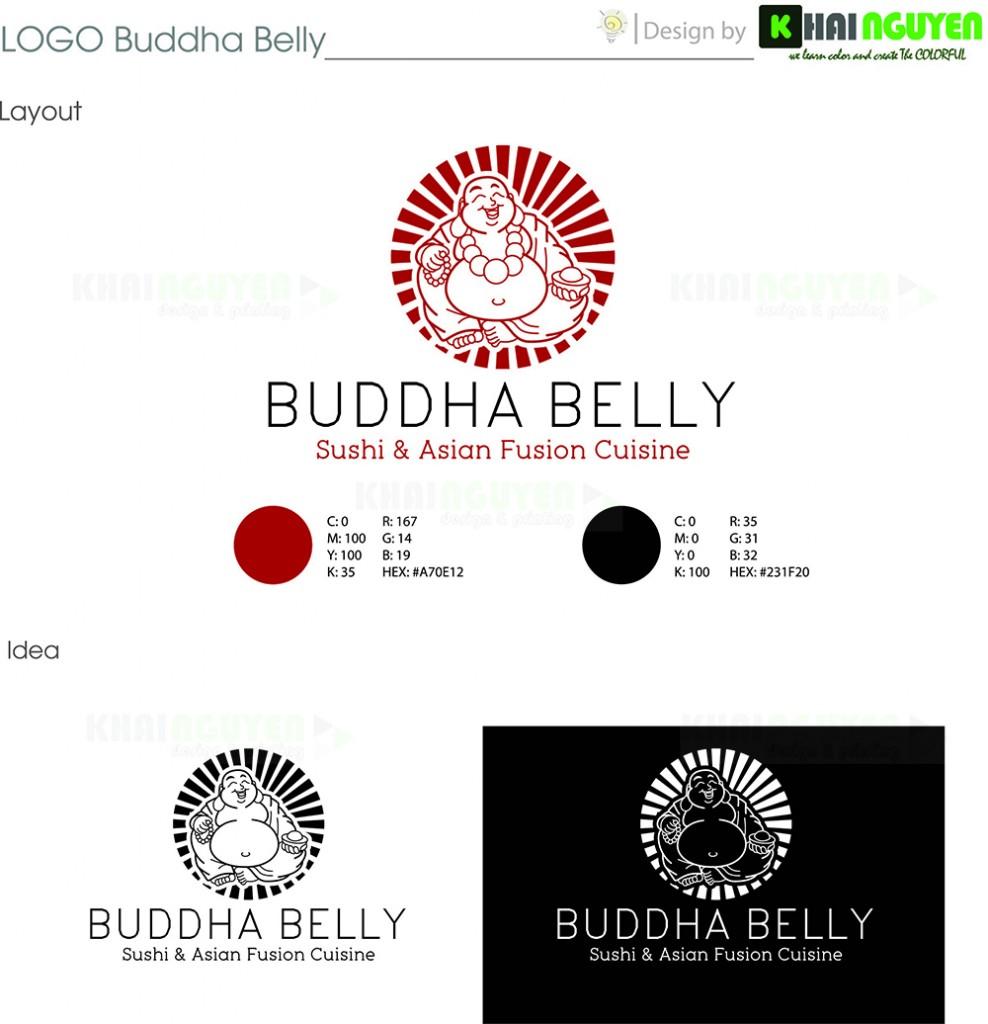 Mẫu thiết kế logo nhà hàng Bubbha belly