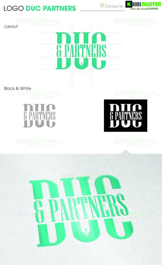 Mẫu thiết kế logo công ty luật Duc Partners