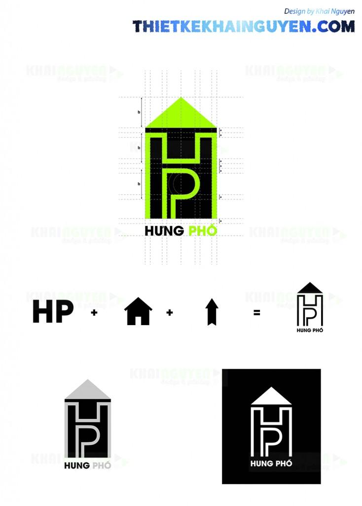 Logo bất động sản hưng phố