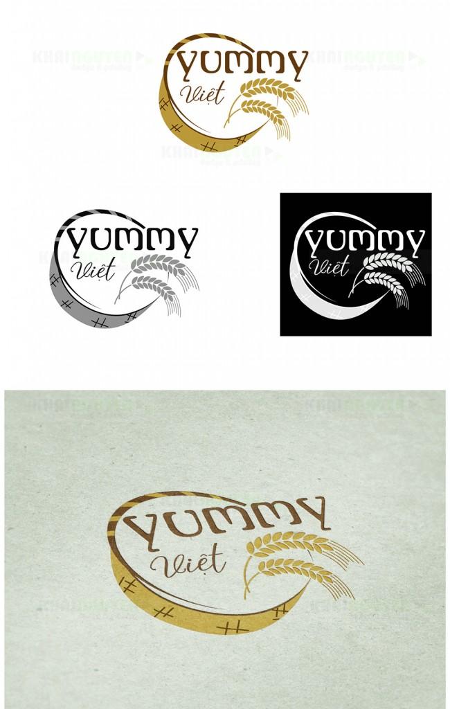 Mẫu thiết kế logo nhà hàng Yummy Việt