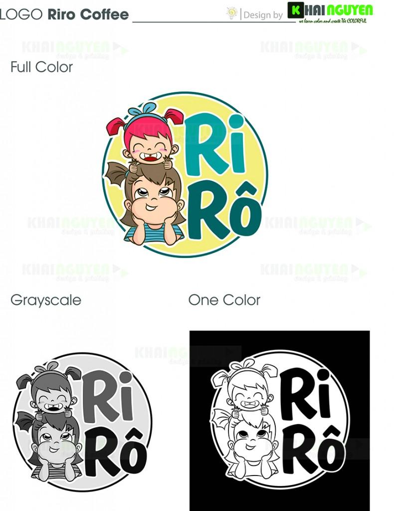 Mẫu thiết kế logo trà sữa Rirô