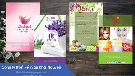 Thiết kế menu spa – tạo đẳng cấp từ menu