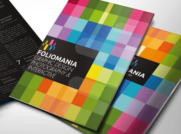 Thiết kế bìa catalogue bằng bảng giao hưởng của sắc màu