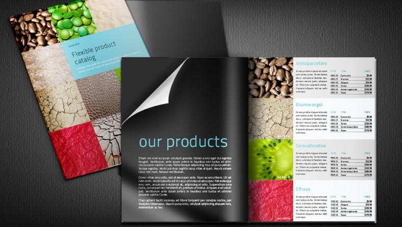 Thiết kế catalogue đẹp với kiểu thiết dạng phẳng