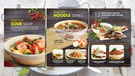 Giới thiệu mẫu thiết kế thực đơn nhà hàng Phở mới nhất