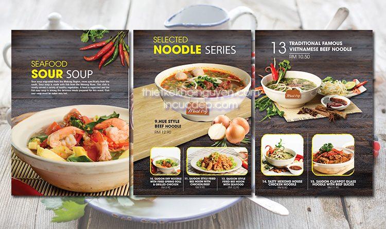 Thiết kế thực đơn cho nhà hàng Phở