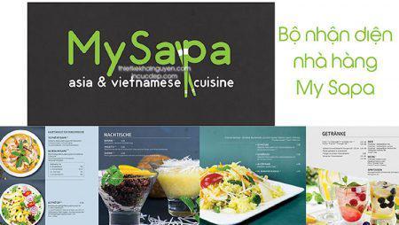 Bộ thiết kế & in ấn cho nhà hàng My Sapa tại Đức