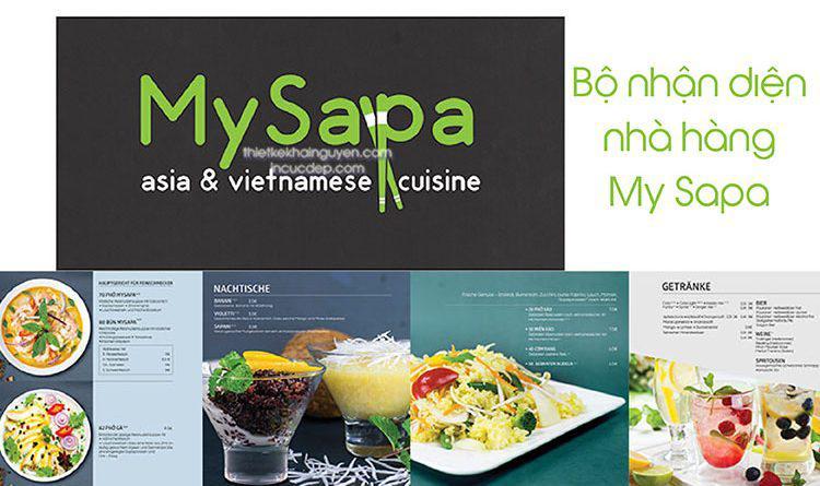 Bộ nhận diện nhà hàng My Sapa
