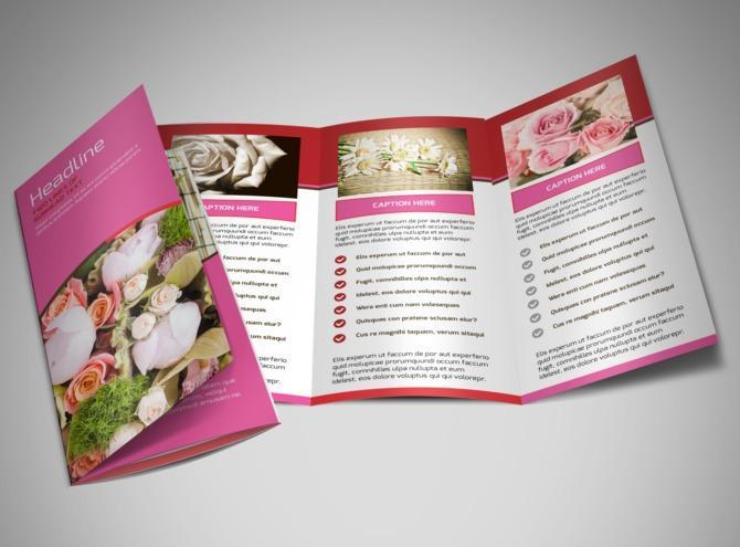 Thiết kế & in brochure shop hoa