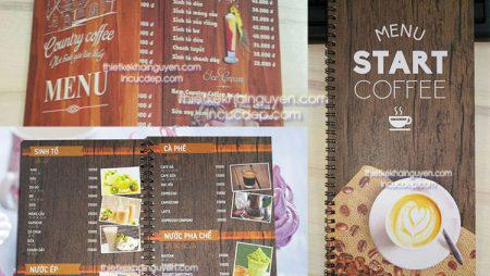 Làm menu giả gỗ siêu bền- nhà hàng, coffee, trà sữa
