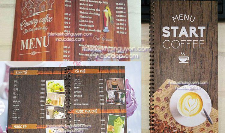 Làm menu giả gỗ - in menu gỗ, thiết kế menu cực đẹp