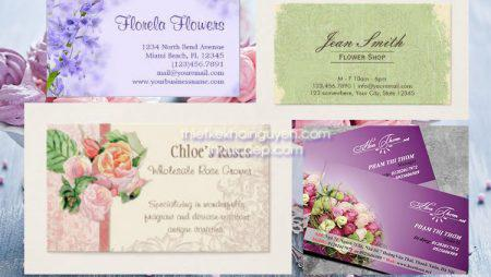Card visit shop hoa – thiết kế & in card visit shop hoa
