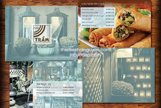 Menu thức ăn quán cafe Trầm tại Phú Nhuận