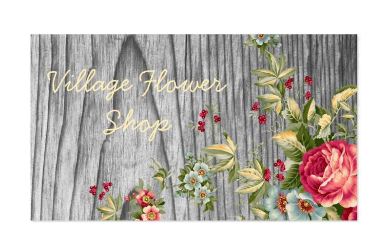 Thiết kế danh thiếp dành cho shop hoa - cổ điển