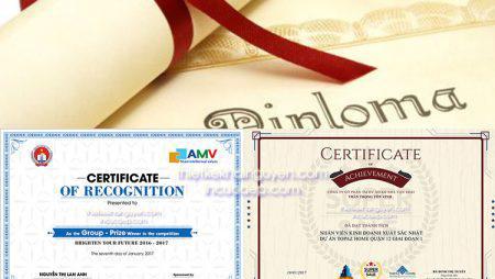 Thiết kế giấy chứng nhận, thiết kế bằng khen chuyên nghiệp