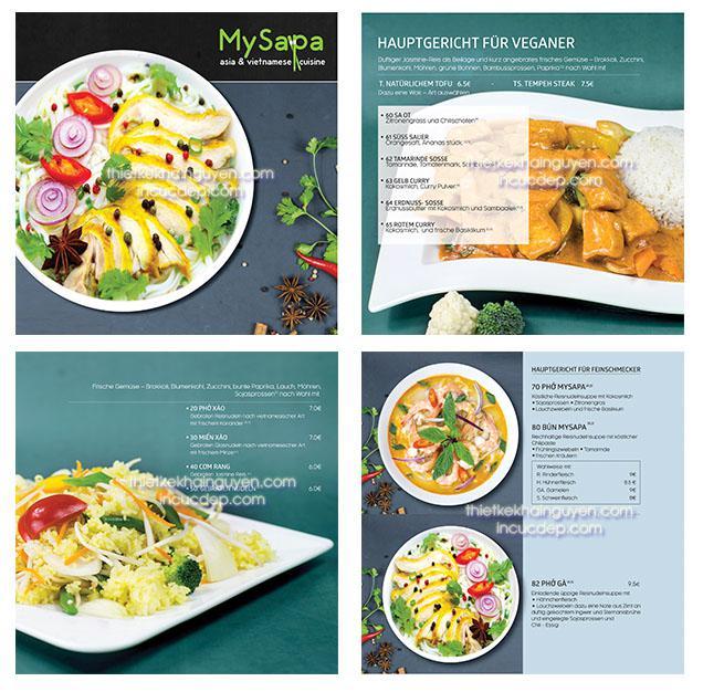 Thiết kế menu My Sapa theo phong cách hiện đại