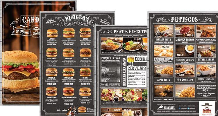 Thiết kế & in ấn Thực đơn thức ăn nhanh - fast food menu