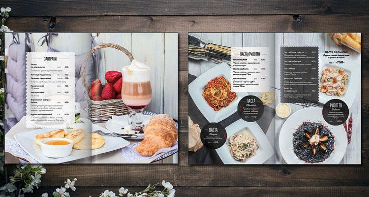 Mẫu thiết kế menu nhà hàng ấn tượng