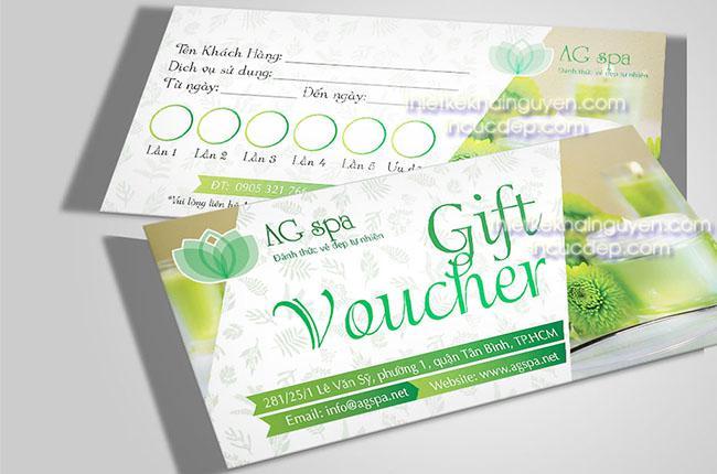 Thiết kế voucher - gift voucher kích thước 7 x 20cm