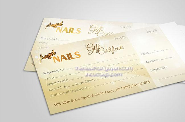 Mẫu gift voucher angel nails