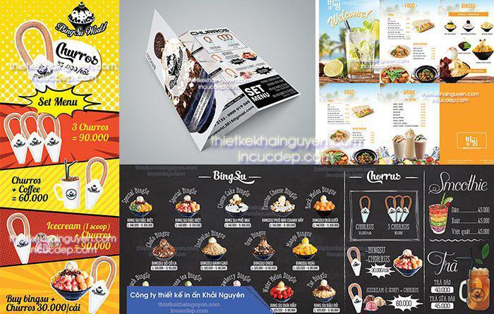 Các loại menu kem bingsu hàn quốc