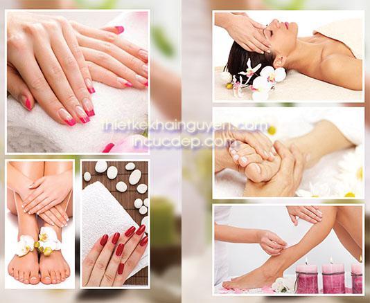Thiết kế poster cho Nails Spa