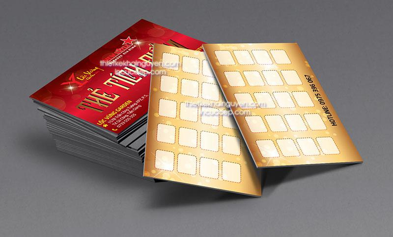 Làm voucher - thẻ quà tặng dạng card visit