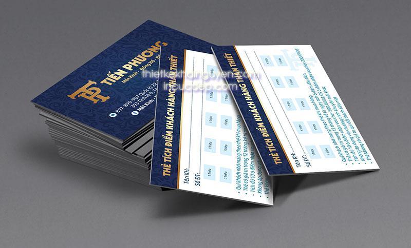 Công ty in thẻ tích điểm - phiếu tích điểm uy tín tại Sài Gòn