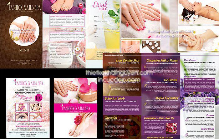 Thiết kế thương hiệu Spa - Fashion nails Spa
