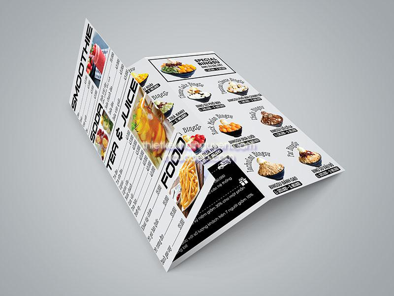 Tờ rơi quảng cáo kem BingSu